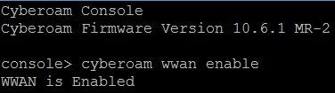enable wwan on cyberoam